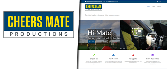Thumbnail of the Cheersmate Video productions website
