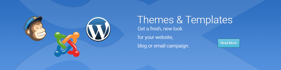 Homepage banner ad for web template design
