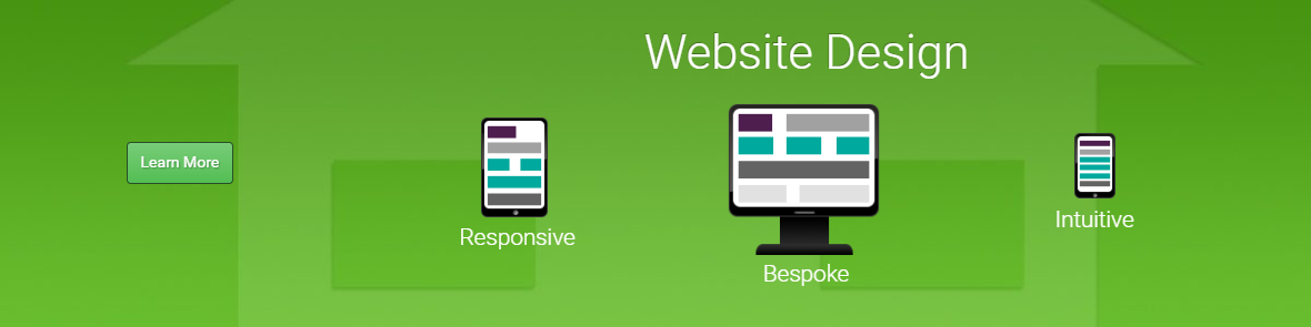 Homepage banner ad for web-design