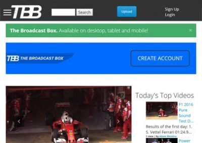 The Broadcast Box – Web Design