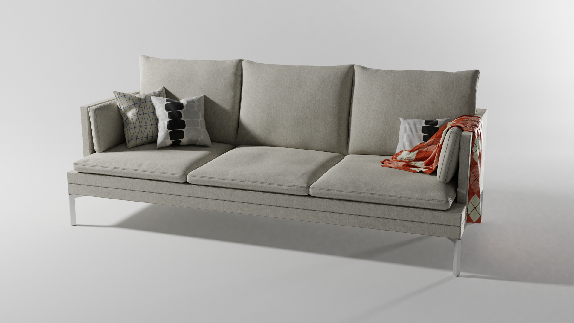 3D rendered couch